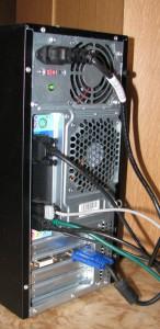 zapojení monitoru do přídavné grafické karty