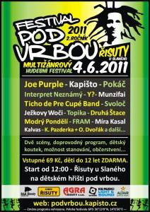 plakát festival Pod Vrbou 2011
